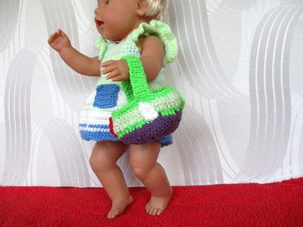 Häkelanleitung- Rock mit Oberteil mit Osterkörbchen für Babypuppe