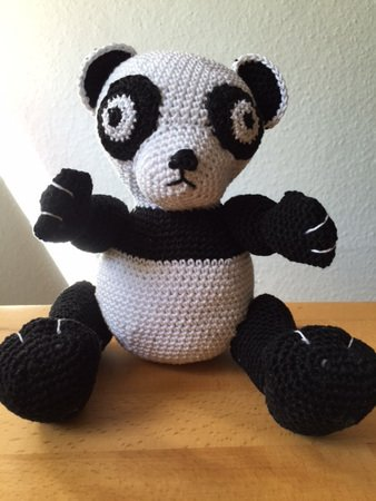 Helenmay Crochet Amigurumi Large Panda Bear Part 2 of 5 DIY Video ... | 450x338