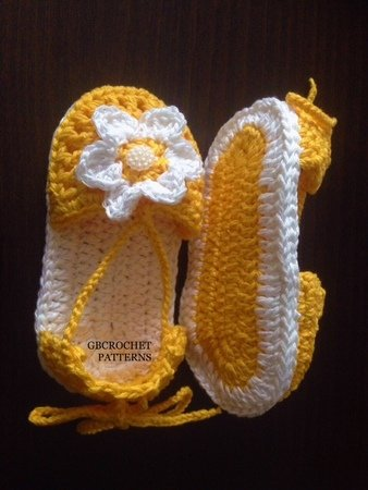 Crochet Pattern Baby Spring Shoes Girls Spring Sandal Easy Summer