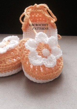 Crochet Pattern Baby Spring Shoes Girls Spring Sandal Easy Summer