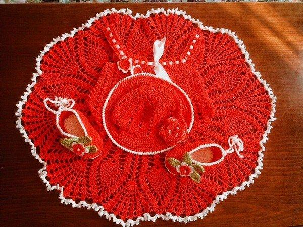 Crochet Pattern Dress Pattern Baby Dress Pattern Take Home Dress