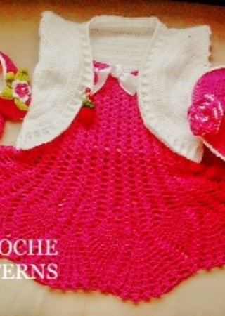 Crochet Pattern Dress Pattern Baby Dress Pattern Take Home Dress