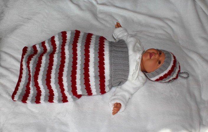 Strickanleitung Baby Schlafsack Schlupfsack Pucksack 2 Größen 0
