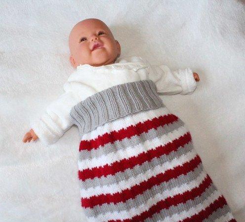 watch 4e4ef 8d552 Strickanleitung Baby-Schlafsack, Schlupfsack, Pucksack, 2 Größen, 0 - 12  Monate