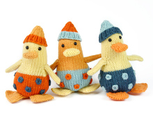 "Mini Ducks, ""The Stash Gobblers #05"", knitting pattern"