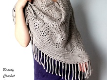 Gray Shawl Crochet Pattern