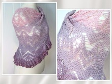 "triangular shawl ""magnificent flowers"""