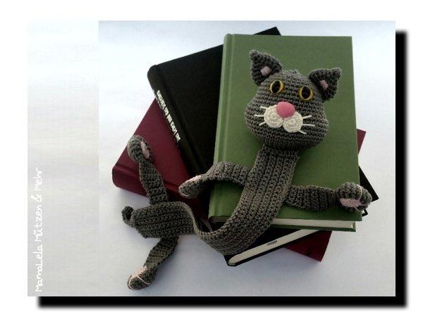 Lesezeichen Katze Häkelanleitung