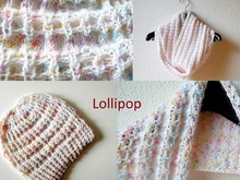 "Hat and cowl knitting pattern collection ""The Lollipop Book"""