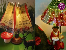 Beverage Carton Lamp Shade, Upcycling