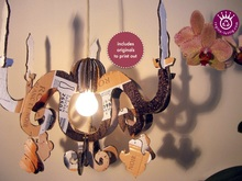 Lustre, Chandelier, Upcycling