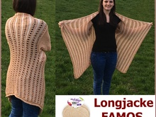 Longjacke FAMOS aus Woolly Hugs NOBLY