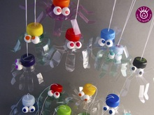 Pet Bottle Jumping Spider, Upcycling