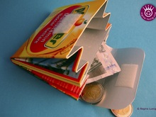 Beverage carton Purse, Wallet, Upcycling
