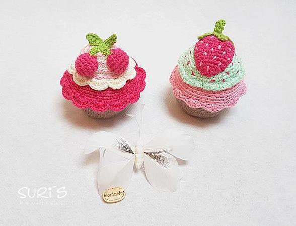 Gratis Häkelanleitung Cupcake Set