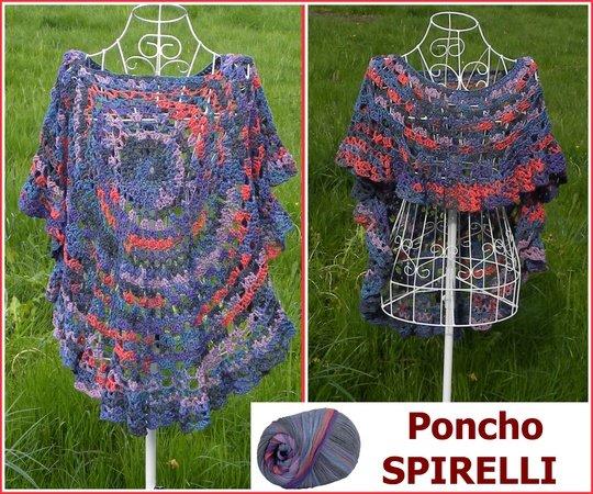 Poncho Spirelli Aus Woolly Hugs Bandy Gehäkelt