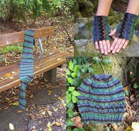 Hat Scarf And Fingerless Gloves Set Emmental Knitting Pattern