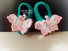Baby Butterfly crochet shoes, easy shoes Newborn up to 2 years old