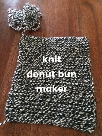 Knit Hair Donut Bun Maker Pattern Pdf 3 Sizes Small Medium Large