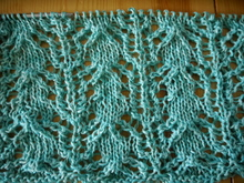 Strickanleitung Lacemuster Rispe