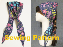 cotton woven fabric summer headband sewing pattern