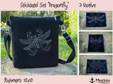 "Stickdatei Set 10x10 ""Dragonfly / Libellen"