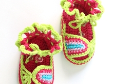Baby Colorful Sandals Crochet Pattern