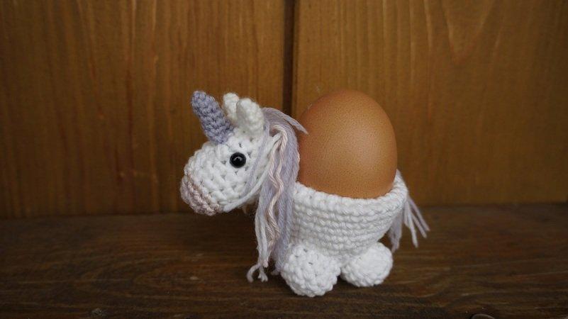 Einhorn Häkeln Eierbecher Häkeln Deko