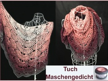 """Poem of stitches"" Shawl crochet with Woolly Hugs Bobbel-Cotton - Veronika Hug"