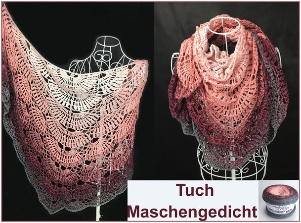Poem Of Stitches Shawl Crochet With Woolly Hugs Bobbel Cotton