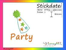 "Stickdatei ""Party / Feier / Geburtstag"" Pes Format (Deco, Brother, Babylock)"