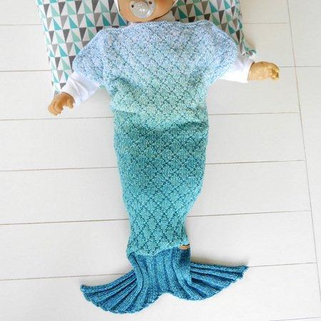 Strickanleitung Baby Decke Meerjungfrau No164