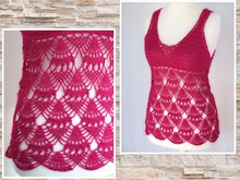 "crochet pattern top, shirt ""Valerie"", size 34-46"