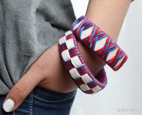 Armschmuck Armreif basteln Armbänder aus PET-Flaschen - super schick ...