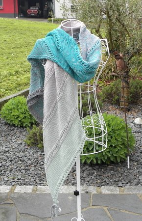 Vario-Loop stricken mit 1 Woolly-Hugs-Bobbel-Cotton mit Veronika Hug