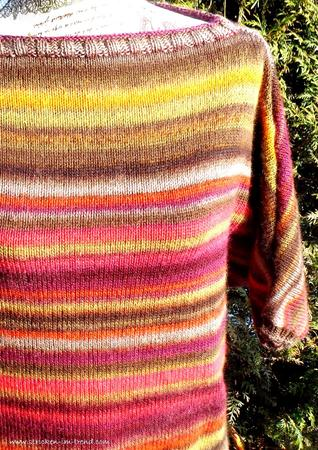 Strickanleitung für Pullover | Fledermaus-Pulli *COLOR STRIPES*