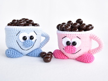Crochet Pattern - cute cups