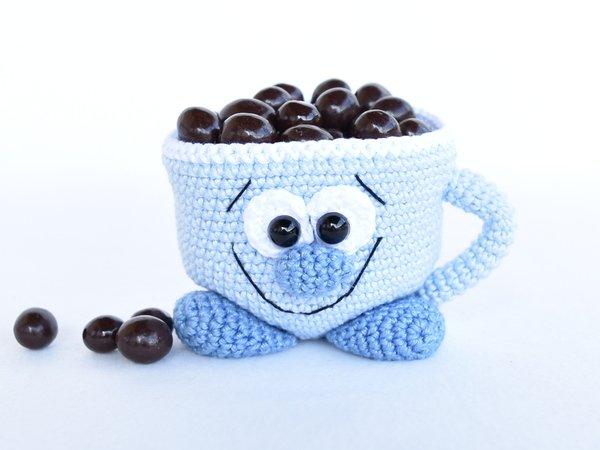 Deko Tasse Häkeln Mit Kleinigkeiten Füllen
