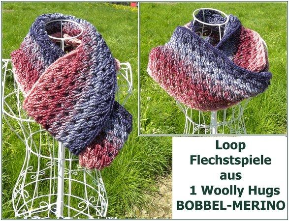 Loop Häkeln Bunter Schal Bobbel Verhäkeln