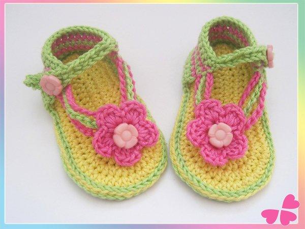 Babyschuhe Häkeln Sandalen Blume 0 1 J