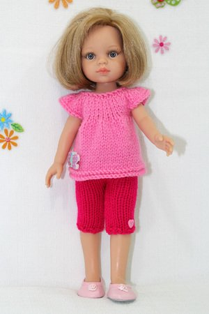 Knitting Pattern For Clothes For Corolle Les Cheries Doll 13 And