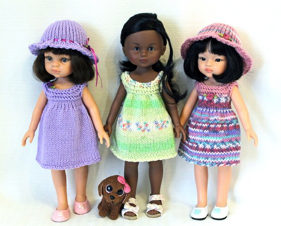 44cd7fdb8 Knitting pattern for Sundresses and Hat for Paola Reina doll and ...