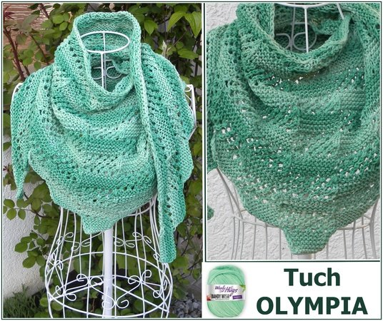 Tuch OLYMPIA stricken aus Woolly Hugs BANDY WISH mit Veronika Hug