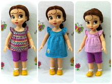 "Knitting pattern for clothes for Disney Animators' dolls (16"")."