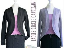 E-Book Circle Cardigan Ladies GR. 34-54