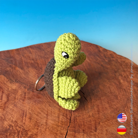 Crochet: How to Make a Baby Turtle Plushy for Keychain or Toy ... | 450x450