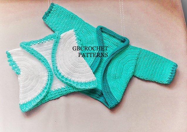 Crochet Pattern Baby Cardigan Unisex Baby Bolero Boys Cardigan