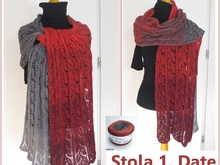 "Stola ""1. Date"" stricken mit 1 Woolly Hugs - BOBBEL"