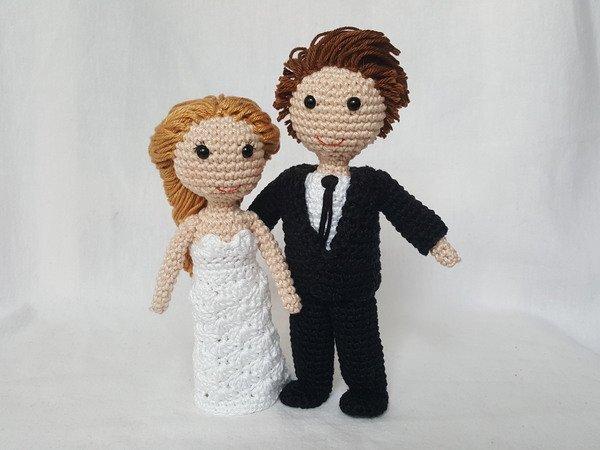 Häkelanleitung Brautpaar