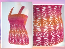 "crochet pattern top ""summer mood"", size 34-44"